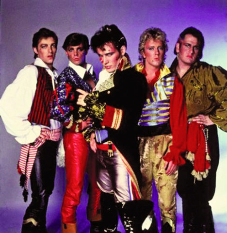 Adam ant and the ants in full pirate gear