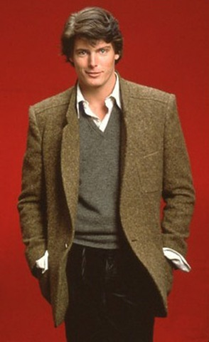 gorgeous Christopher Reeve in sport jacket